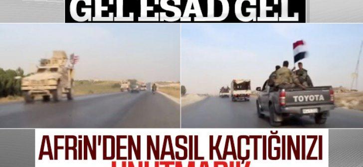 Esad ile ABD'nin askerleri yolda karşılaştı