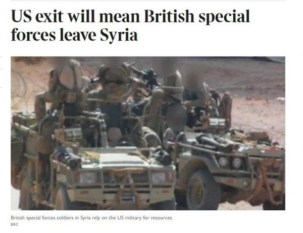 İngiliz özel kuvvetleri Suriye'yi terk ediyor