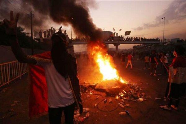 Irak'ta gösterilerin şiddeti arttı