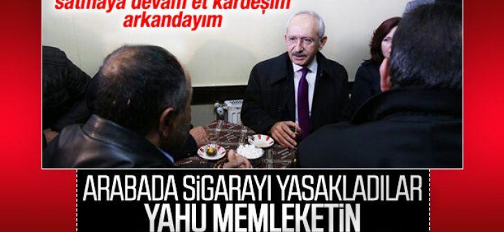 Kemal Kılıçdaroğlu, arabada sigara yasağını eleştirdi