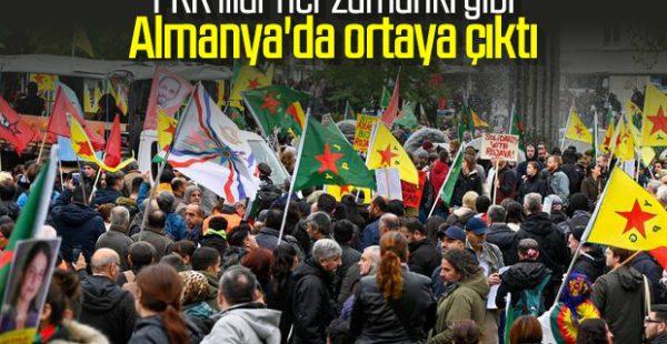 Köln'de PKK'lılar eylem yaptı