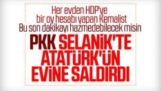 PKK'lılar, Selanik'te Atatürk Evi'ne saldırdı