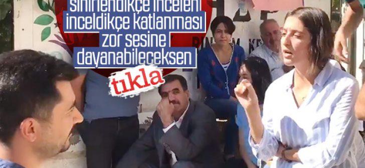 Polislerin sabrını sınayan HDP'li terör sevici vekil