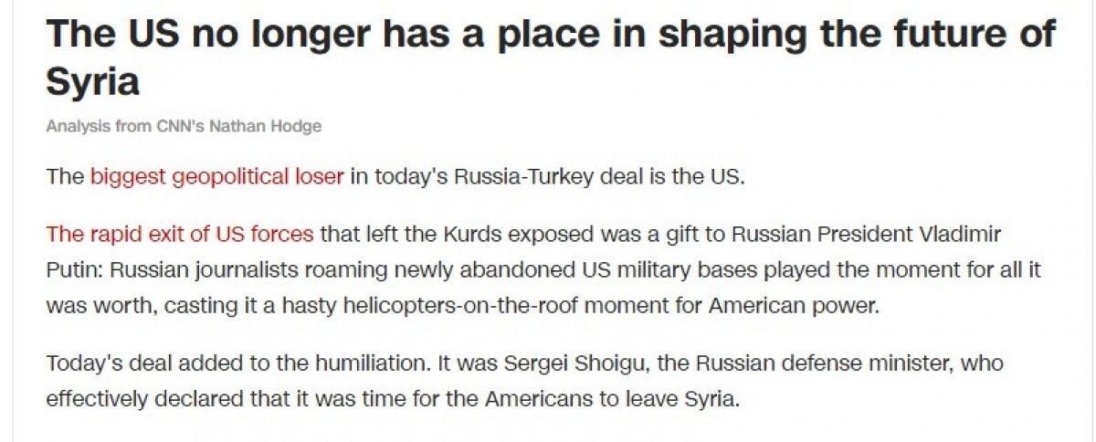 Suriye anlaşması ABD'yi üzdü