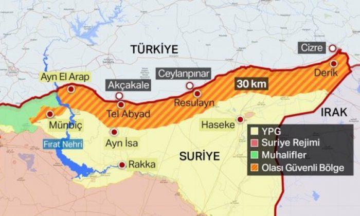 Suriye'ye operasyonda öncelik 120 km'lik hat