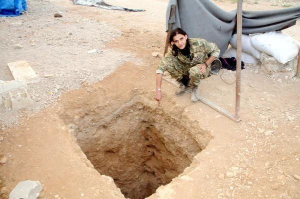 Teröristler Tel Abyad'ı köstebek yuvasına çevirdi
