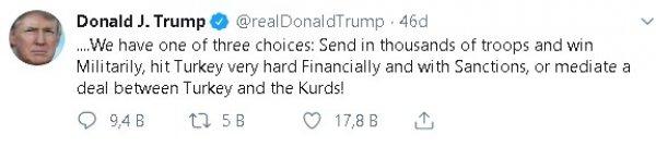Trump, Türkiye'yi bu kez askeri müdahale ile tehdit etti