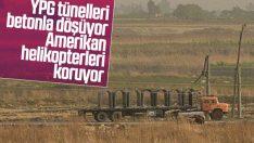 YPG sınırdaki tünellere beton bloklar döşüyor