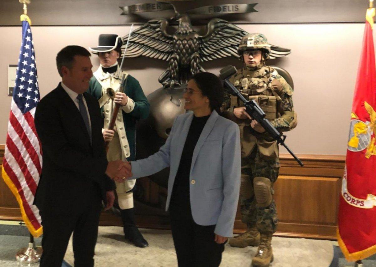 YPG'li İlham Amed, Pentagon'da