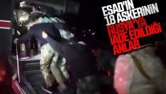 18 Suriye Rejim askerinin iade edildiği görüntüler