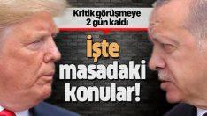 Erdoğan ve Trump görüşmesinde 7 kritik konu!