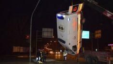 Ağrı'da hasta taşıyan ambulans kaza yaptı: 1 ölü 9 yaralı