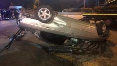 Ankara'da takla atan aracın sürücüsü yaşamını yitirdi