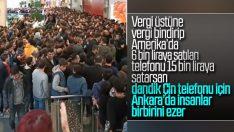 Ankara'daki AVM'de akıllı telefon izdihamı