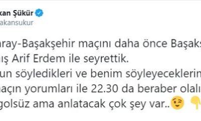 Arif Erdem, Hakan Şükür'ün yanında çıktı