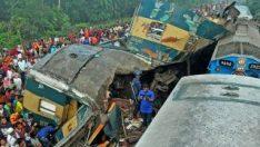 Bangladeş'te tren kazası oldu