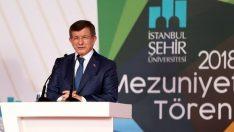 Ahmet Davutoğlu'ndan İstanbul Şehir Üniversitesi'ne bedelsiz arazi kıyağı