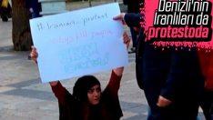 Denizli'de İran protestolarına destek