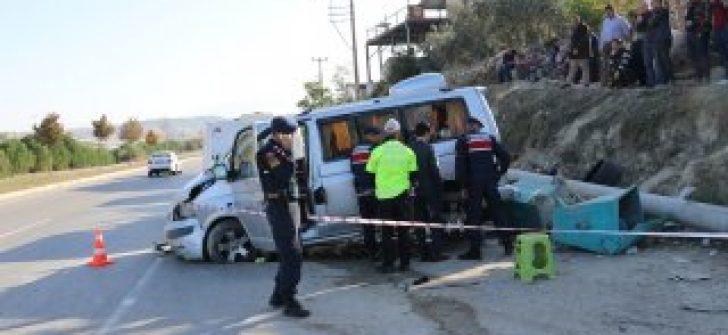 Denizli'de trafik kazası:1 ölü