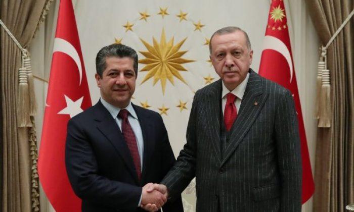 Erdoğan, Barzani ile bir araya geldi