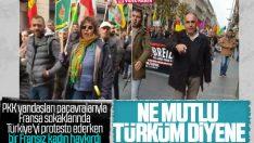 Fransa'da PKK teröristir diyen kadına saldırı