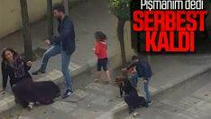 Gaziantep'te sokak ortasında eşini döven adam serbest bırakıldı
