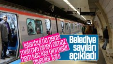 İBB gece metrosunu kullanan sayısını açıkladı