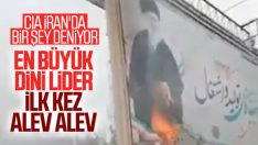 İran'da Hamaney'in posterini yaktılar