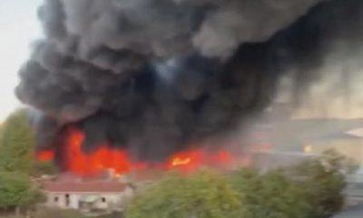 İstanbul Arnavutköy'de bir fabrikada yangın çıktı