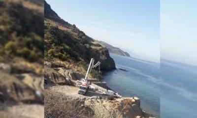 Karaburun'da sit alanına yapılan inşaat yarın yıkılacak