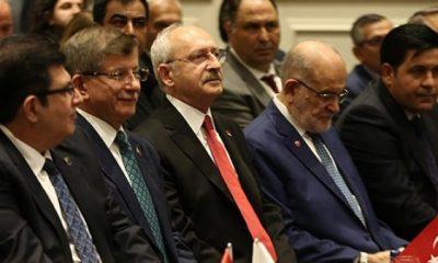 Kılıçdaroğlu, Karamollaoğlu ve Davutoğlu aynı karede