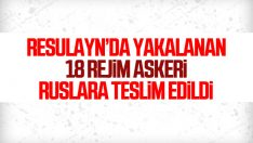 MSB: Ele geçirilen 18 rejim unsuru teslim edildi