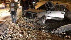 Osmaniye'de kamyon ile araç çarpıştı