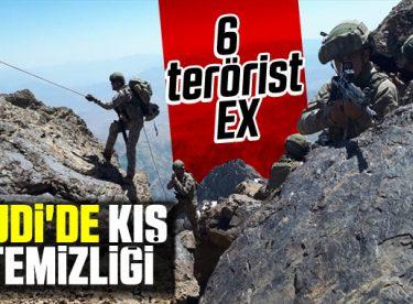 Şırnak'ta 6 terörist etkisiz hale getirildi