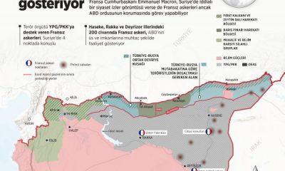 Suriye'de Fransız askerlerinin konuşlandığı bölgeler