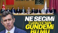 TBB Başkanı Feyzioğlu seçim tartışmalarına cevap verdi