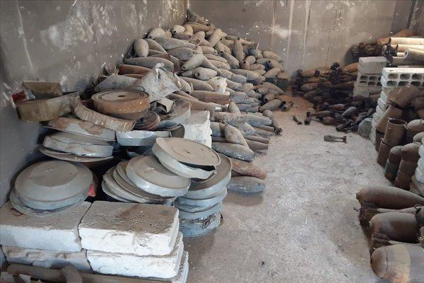 Tel Abyad'da YPG'ye ait mayın deposu bulundu