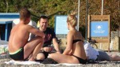 Antalya'da deniz sezonu kapanmadı
