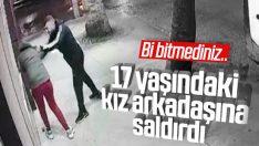Bursa'da kız arkadaşına saldıran erkek kamerada