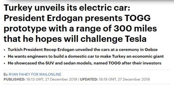 Dünya basınının gözü yerli otomobilde