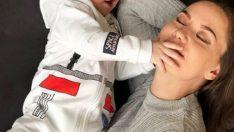 Fahriye Evcen, oğlu Karan ile ilk kez fotoğraf paylaştı
