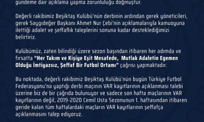 Fenerbahçe'den TFF'ye 'VAR' çağrısı