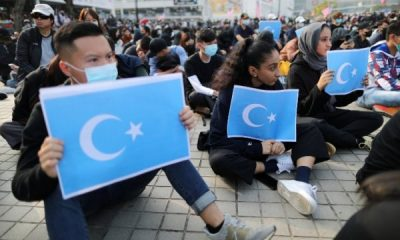 Hong Konglular Uygur Türkleri'ne destek için toplandı