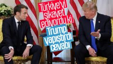 Macron Türkiye'yi eleştirirken Trump savundu