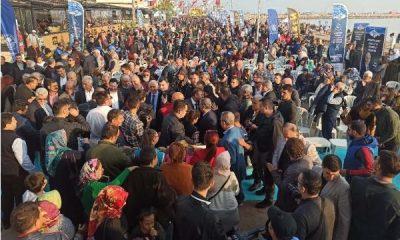 Mersin'de festivalde balık-ekmek izdihamı