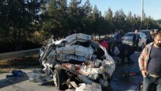 Mersin'de trafik kazası: 1 ölü 2 yaralı