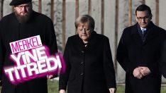 Nazi toplama kampı ziyaretinde Merkel yine titredi