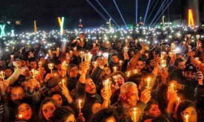 Suriye'de düzenlenen Noel partisi