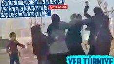 Suriyeli dilencilerin yer kavgası