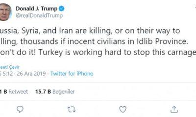 Trump: Türkiye İdlib'de katliamı durdurmaya çalışıyor